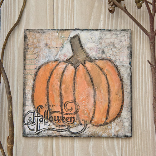Scribbly Pumpkins Canvas