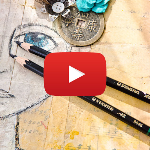Good Thoughts Girl Mixed-Media Canvas Video