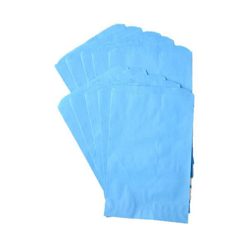 Pinch Bottom Paper Bags Medium Blue 6 x 9 inches