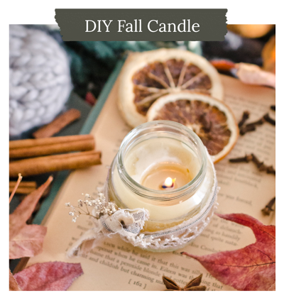 DIY Fall Candle