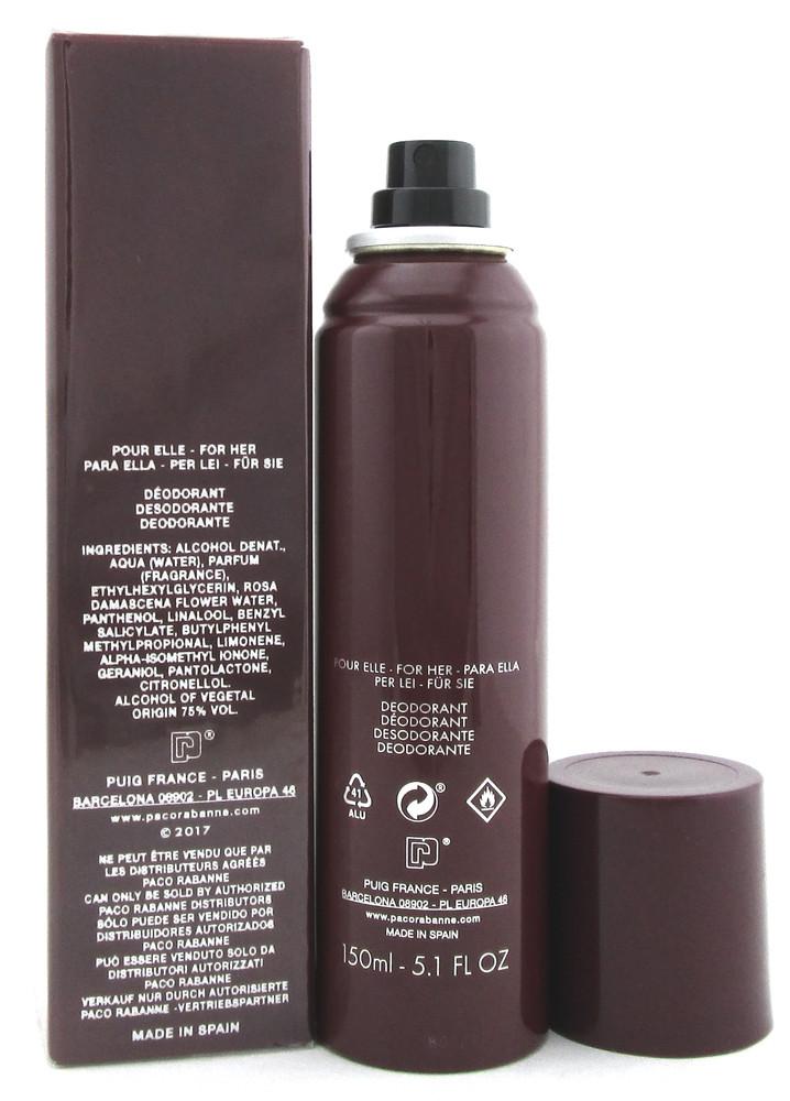 Black XS by Paco Rabanne 5.1 oz./ 150 ml. Deodorant Spray for Women.