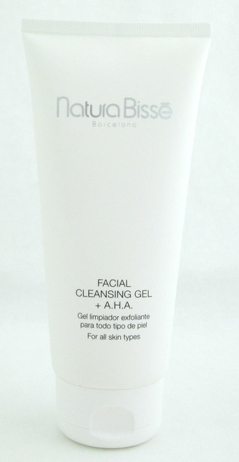 Natura Bisse Facial Cleansing Gel + A.H.A For All Skin Types 7 oz/ 200 ml NIB