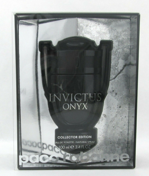 Invictus Onyx Cologne by Paco Rabanne 3.4 oz. EDT Spray Collector Edition New