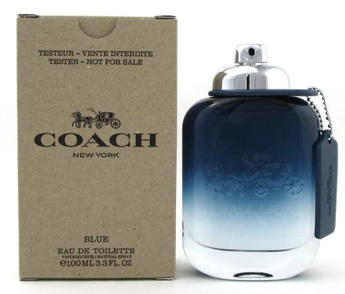 Coach New York Blue Cologne 3.3 oz. /100 ml. EDT Spray for Men. New Tester