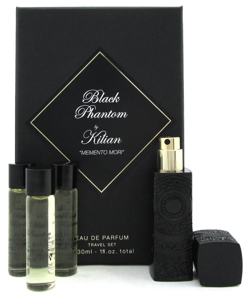Black Phantom Perfume by Kilian Travel Set 4 x 7.5 ml. EDP Spray.