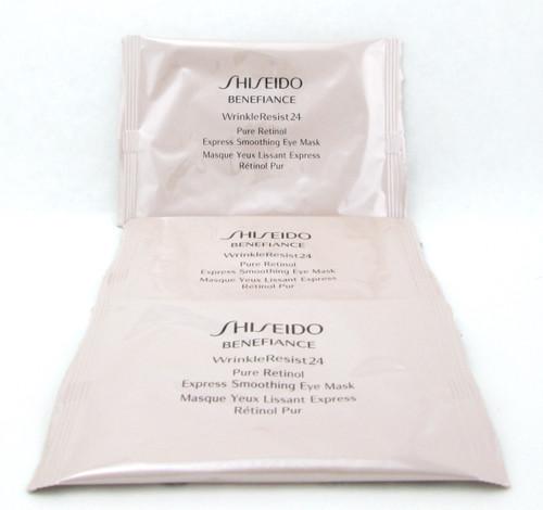 Shiseido Benefiance WrinkleResist24 Pure Retinol Express Smoothing Eye Mask 3Pack