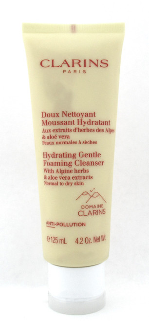 Clarins Hydrating Gentle Foaming Cleanser Normal to Dry Skin 4.2 oz. Sealed