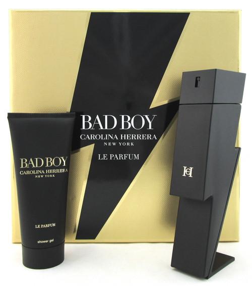 Bad Boy LE PARFUM by Carolina Herrera 3.4 oz. EDP Spray + 3.4 oz. Sh/Gel. New Set