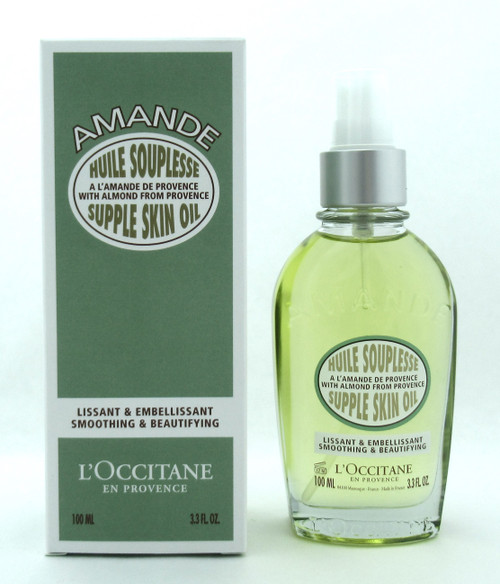 L'occitane Amande Almond Supple Skin Oil Smoothing & Beautifying 3.3 oz. New