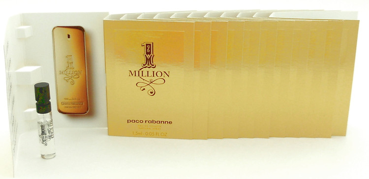 1 Million Paco Rabanne EDT Spray Sample Vials PACK of 12 pcs.