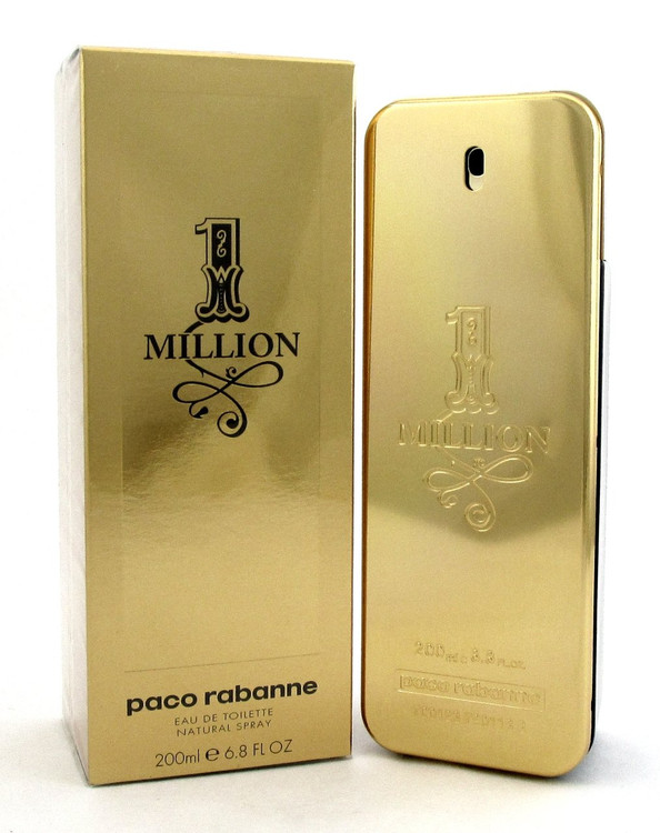1 One Million by Paco Rabanne For Men 6.8 oz Eau De Toilette Spray