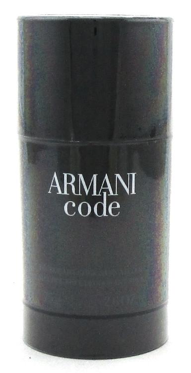Armani Code by Giorgio Armani Alcohol Free Deodorant Stick for Men 2.6 oz. New and Sealed