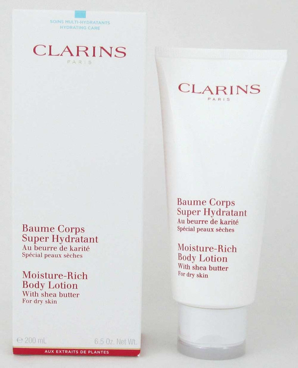 Clarins Moisture Rich Body Lotion w/ Shea Butter Dry Skin 200 ml NIB