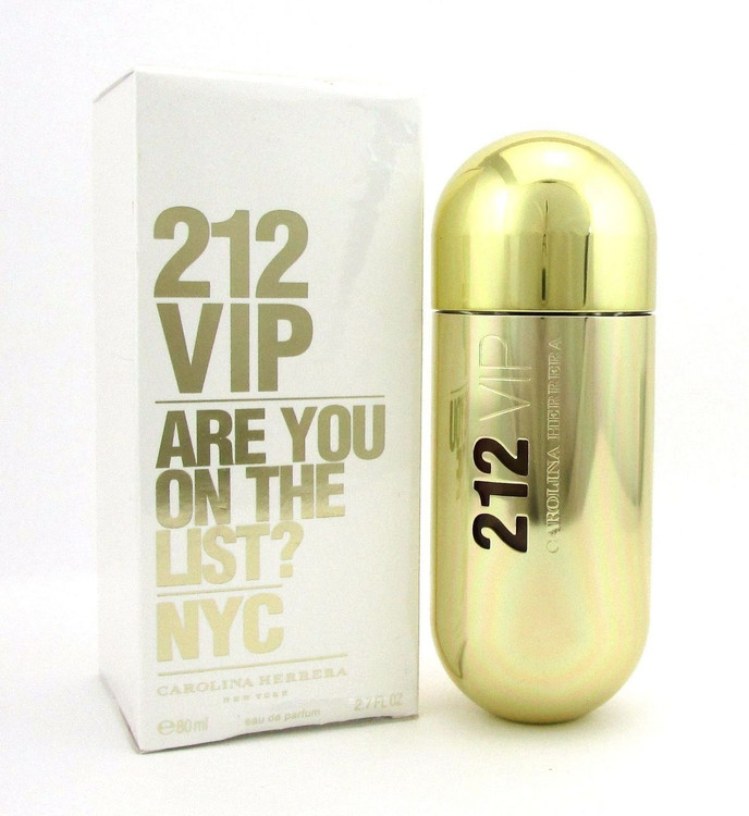 212 VIP by Carolina Herrera EDP Spray 2.7 oz. for Women. New Damaged Box