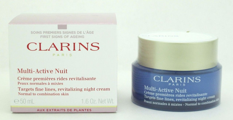 Clarins Multi-Active Night Cream Normal to Comb.Skin 1.6 oz/50 ml NIB
