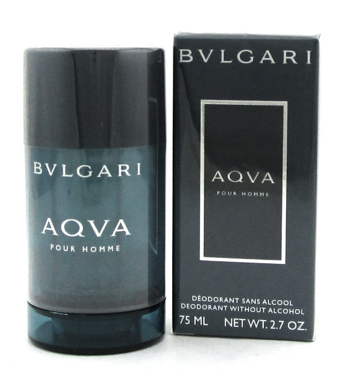 Bvlgari Aqva Pour Homme Deodorant Stick Without Alcohol 2.7oz./ 75ml. New Sealed