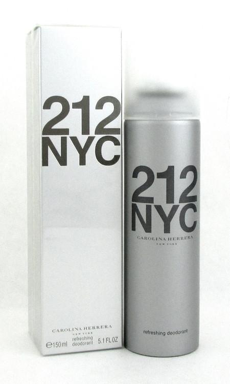 212 NYC by Carolina Herrera Deodorant Spray 5.1 oz./ 150 ml. Women Brand new box