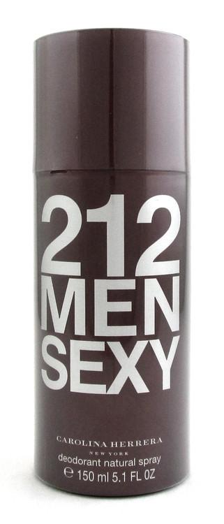 212 MEN SEXY by Carolina Herrera Deodorant Spray 5.1oz./150ml.for Men.New.Sealed
