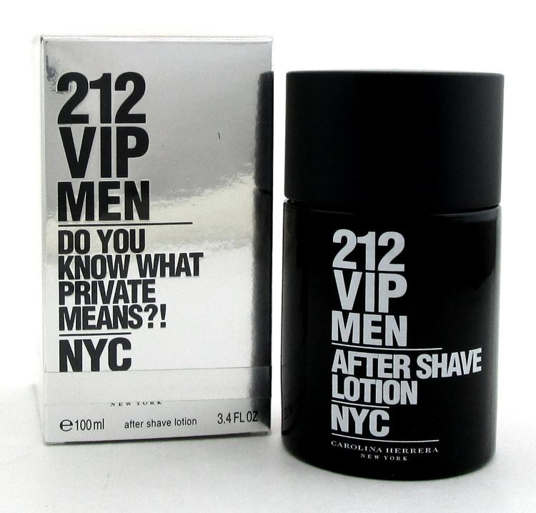212 VIP MEN by Carolina Herrera 3.4 oz. After Shave Lotion Splash. NEW Damag.Box
