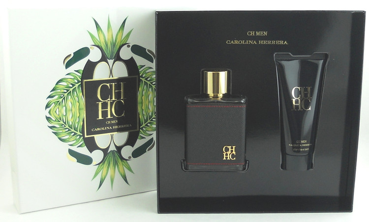 CH Men by Carolina Herrera 3.4 EDT Spray + 3.4 oz After Shave Balm. New Set.