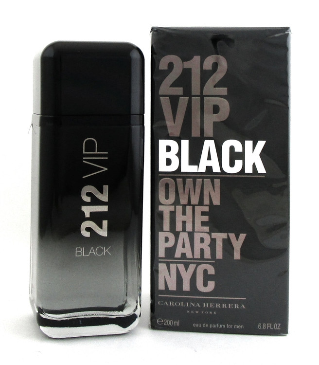 212 VIP BLACK Carolina Herrera 6.8 oz.EDP Spray for Men. New Sealed Damaged Box