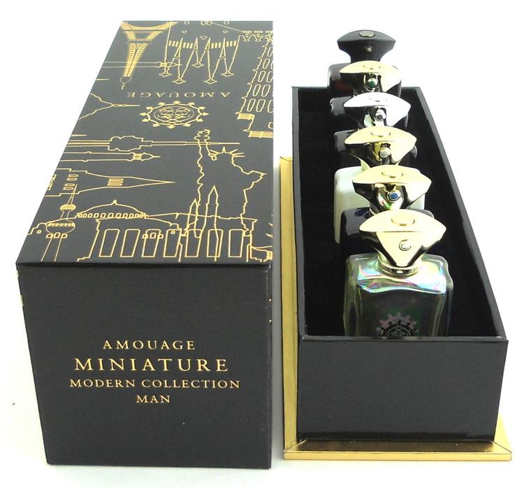 Amouage Cologne Miniatures Modern Collection Man.Set Contains 6 Mini EDP Splashes