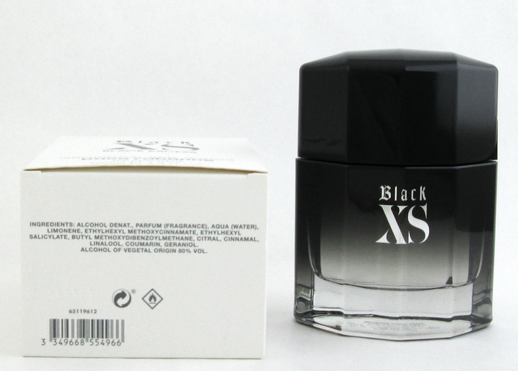 Black XS Black Excess by Paco Rabanne Eau De Toilette Spray for Men 100 ml./ 3.4 oz. Tester