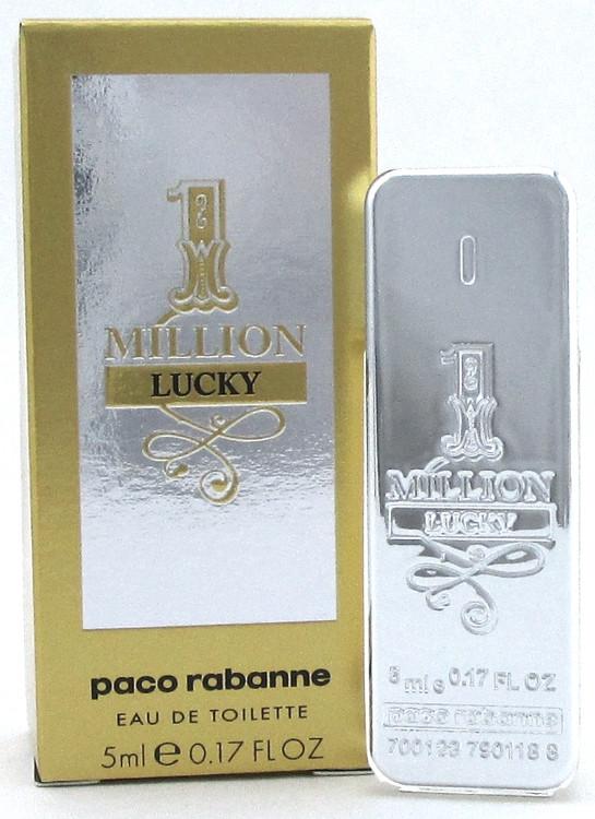 1 One Million Lucky Cologne by Paco Rabanne Eau De Toilette SPLASH for Men 5 ml./ 0.17 oz. Mini