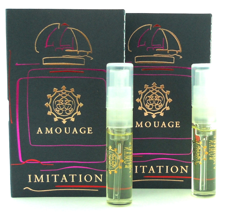 Amouage IMITATION WOMAN EDP EDP 2ml Vial Spray New With Card. Lot of 2