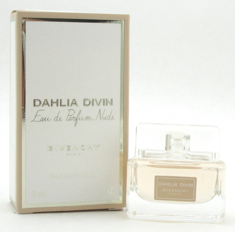 Dahlia Divin Eau de Parfum NUDE by Givenchy MINI 5 ml. for Women. New in Box.
