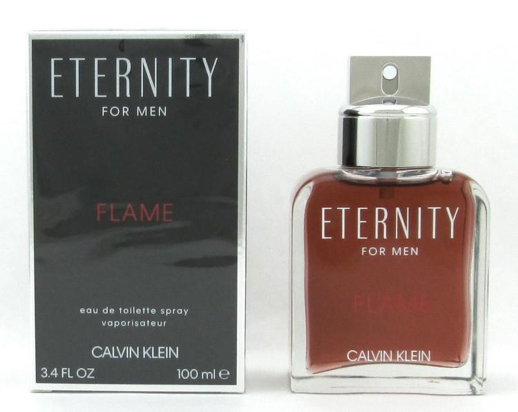 Eternity Flame by Calvin Klein Eau De Toilette Spray for Men 3.4 oz./ 100 ml. NIB