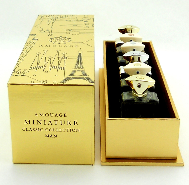 Amouage Miniatures Classic Collection Man 6 x 7.5 ml EDP Set New in Sealed Box