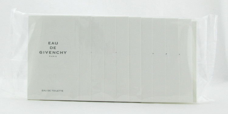Eau De Givenchy by Givenchy for Women EDT Spray Vials 1 ml each Lot of 10