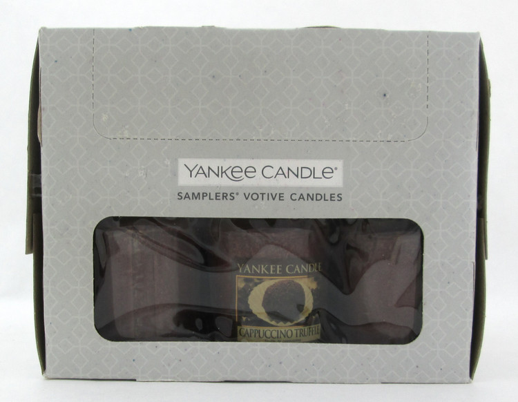 Yankee Candle Cappuccino Truffle Scent Lot of 18 Votive Candles. New in Box.