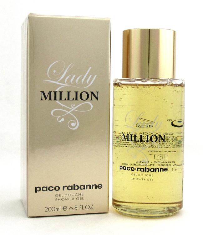 Lady Million by Paco Rabanne Shower Gel 6.8 oz./200 ml. for Women. Sealed
