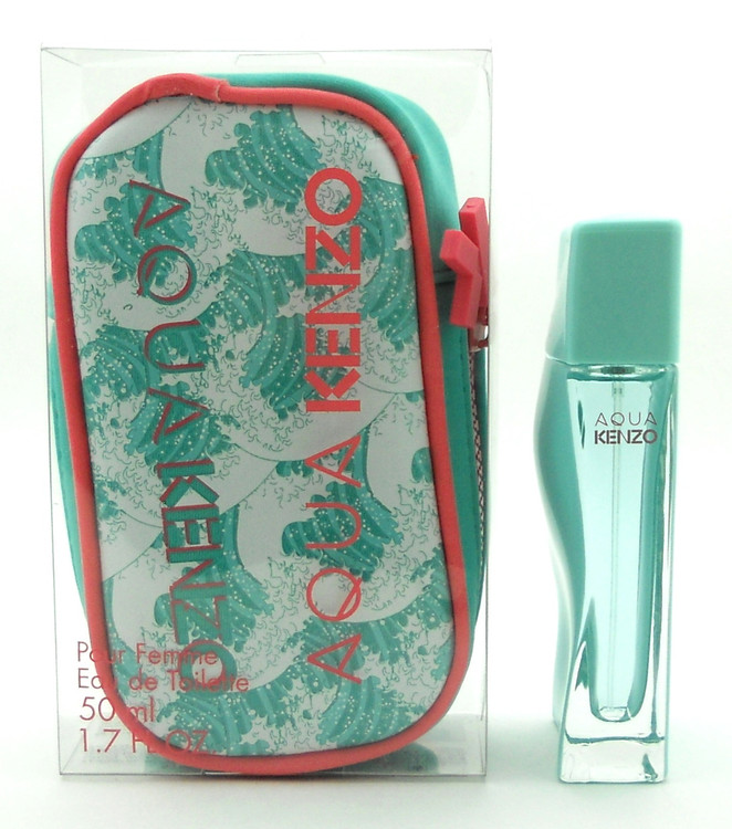 Aqua Kenzo Pour Femme Perfume by Kenzo 1.7 oz.EDT Spray with Pouch in Clear Box