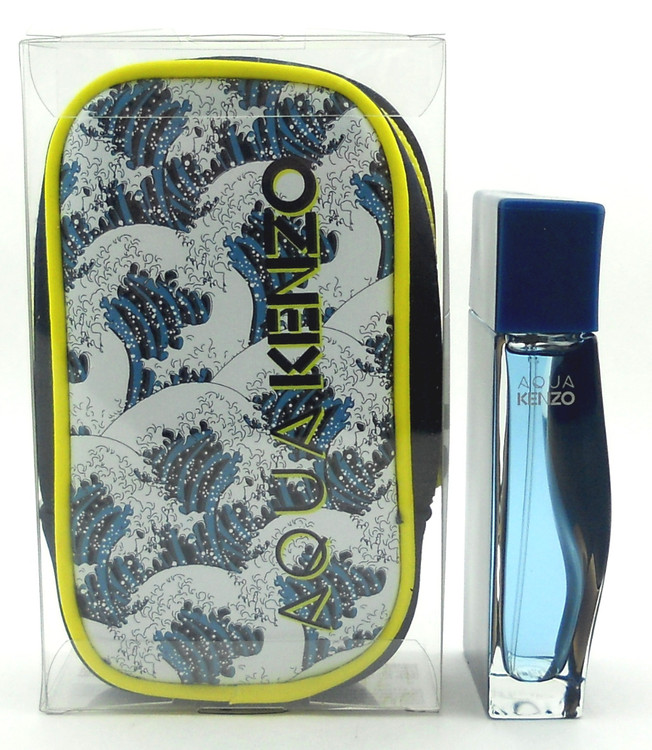 Aqua Kenzo Pour Homme Cologne by Kenzo 1.7 oz.EDT Spray with Pouch in Clear Box