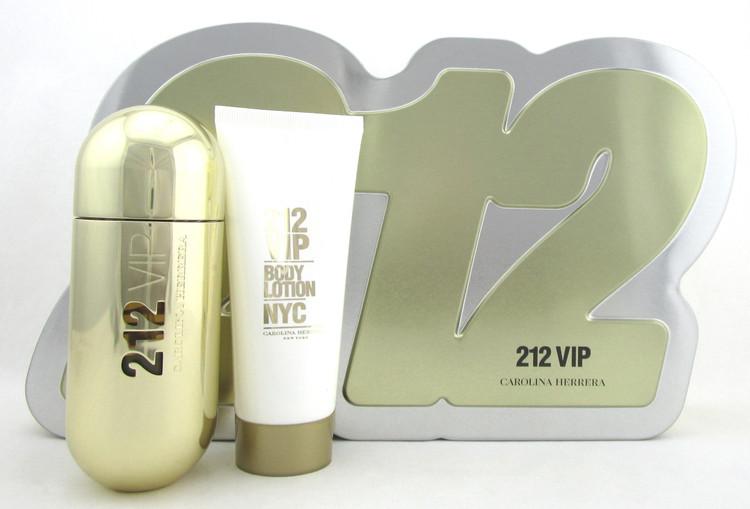 212 VIP by Carolina Herrera SET for Women: 2.7 oz. EDP Spray + 3.4 oz. B/Lotion.