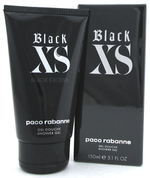 Black XS Black Excess by Paco Rabanne 5.1 oz./ 150 ml. Shower Gel for Men.
