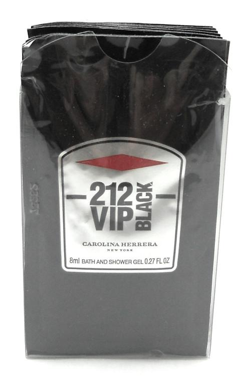 212 VIP BLACK Carolina Herrera Shower Gel Travel Packets 0.27 Oz. LOT of 12