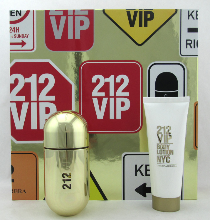 212 VIP by Carolina Herrera SET for Women: 1.7 oz. EDP Spray + 2.5 oz. B/Lotion