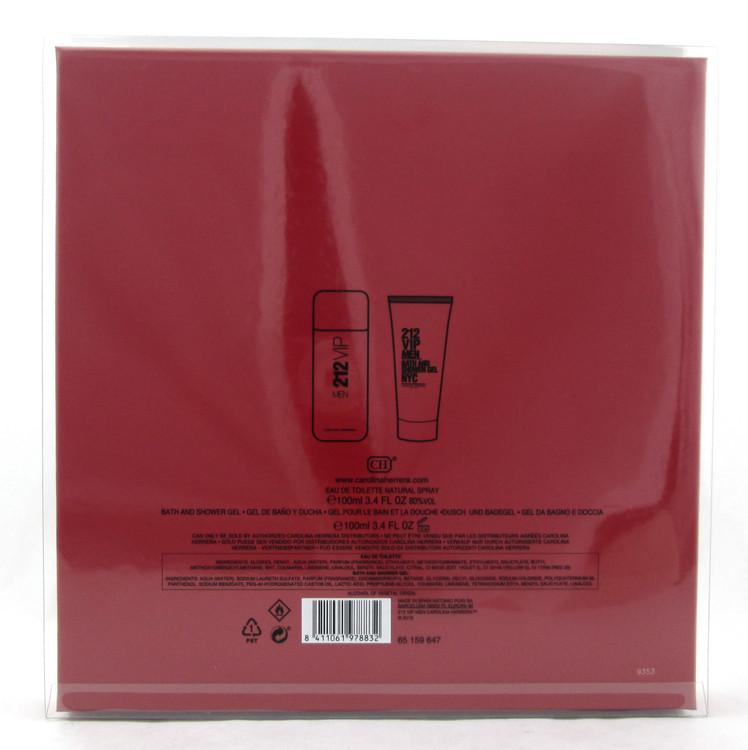 212 VIP Men by Carolina Herrera 3.4 oz.EDT Spray+ 3.4 oz. Shower Gel New Set