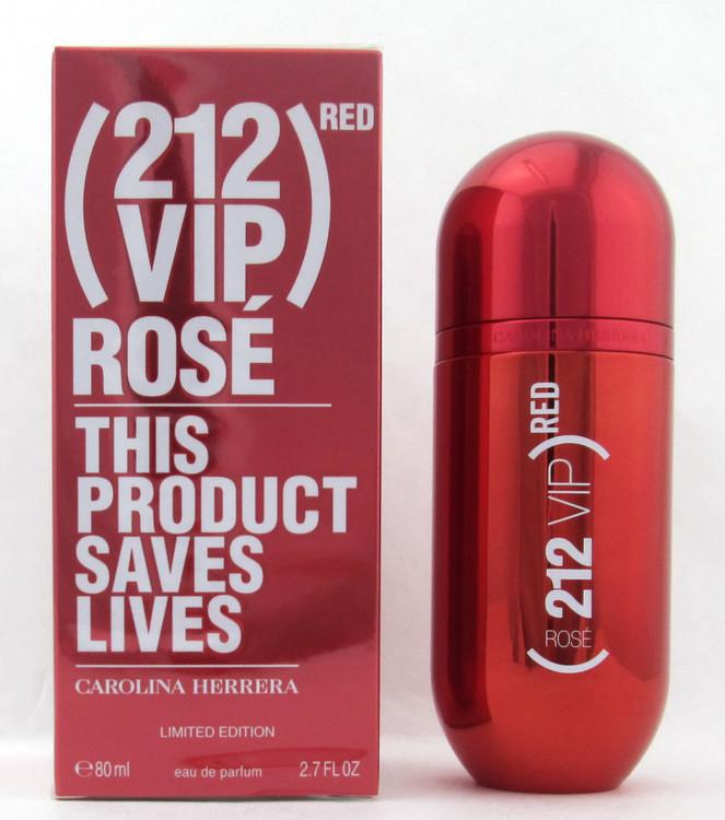 212 VIP Rose Red Limited Edition by Carolina Herrera Eau De Parfum Spray for Women 80 ml./ 2.7 oz.