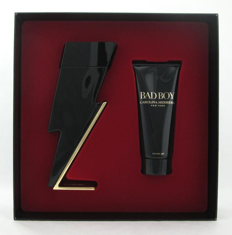 Bad Boy By Carolina Herrera 2 Pcs Set 3.4 oz. EDT Spray +Shower Gel for Men
