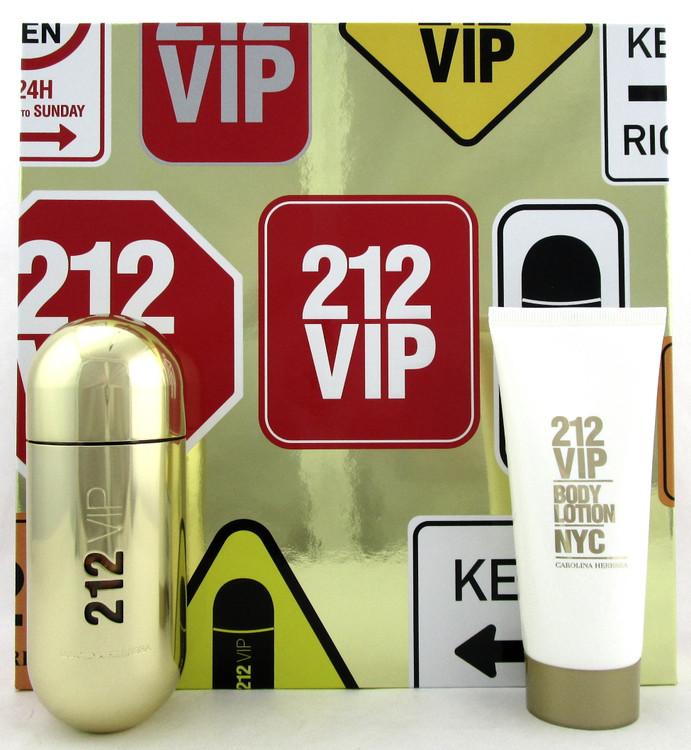 212 VIP by Carolina Herrera 2.7 oz. EDP Spray + 3.4 oz. Body Lotion. New Set.