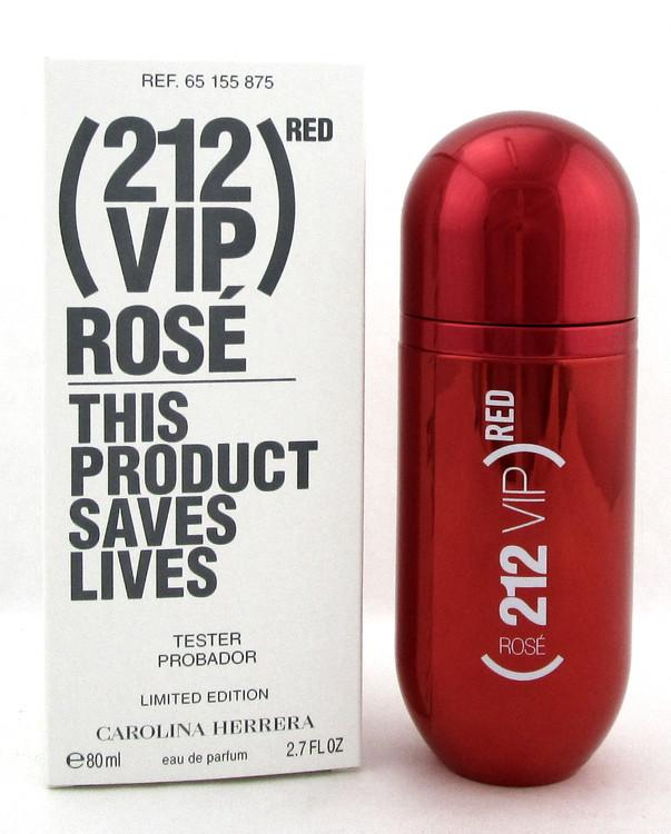 212 VIP ROSE RED Edition by Carolina Herrera 2.7 oz. EDP Spray Women. New Tester