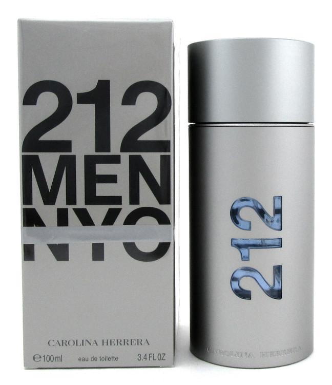 212 MEN NYC Cologne by Carolina Herrera 3.4 oz Eau de Toilette Spray Damaged Box
