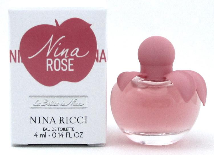 Nina Rose by Nina Ricci Perfume Mini 4 ml. EDT Splash for Women. New in Box