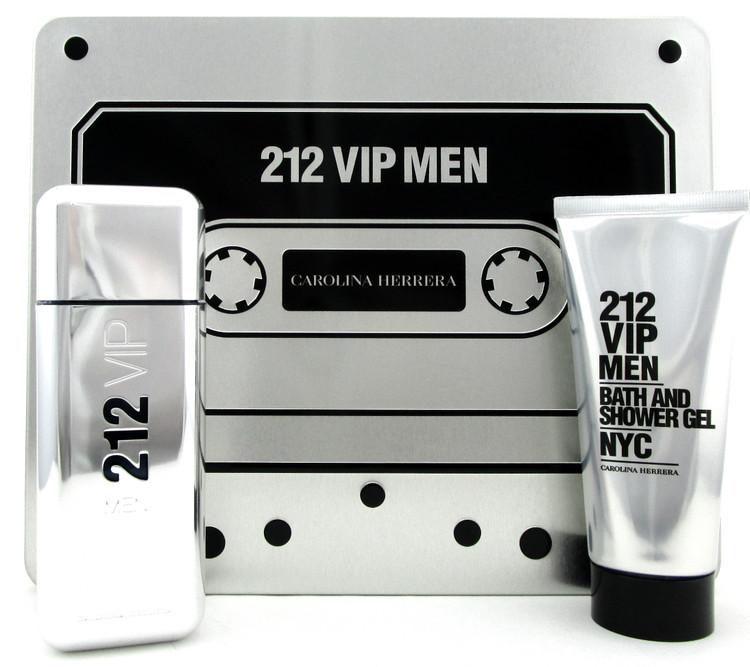 212 VIP MEN by Carolina Herrera 3.4 oz.EDT Spray + 3.4 oz. Shower Gel. New Set
