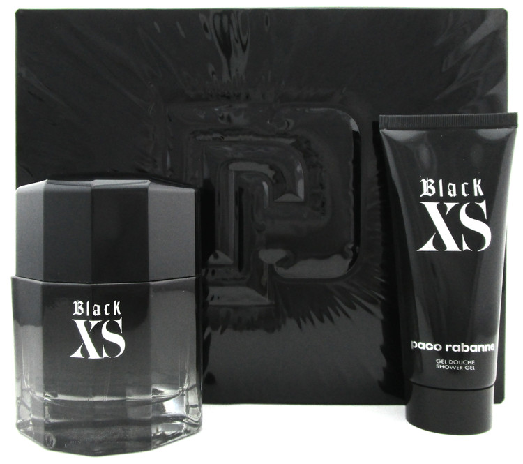 Black XS EXCESS by Paco Rabanne 3.4 oz.EDT Spray + 3.4 oz.Sh/Gel.New SET for Men